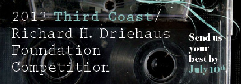 2013 Third Coast  / Richard H. Driehaus Foundation Competition banner