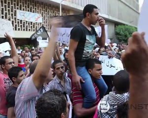 Egyptian Demonstrators Enraged by an American Film Besiege the US Embassy &quot; second day &quot;