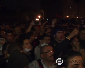 protesters reject Morsy declaration In Tahrir SQ