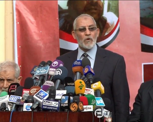Muslim Brotherhood Chief Urges All Political Forces to Refrain from Violence