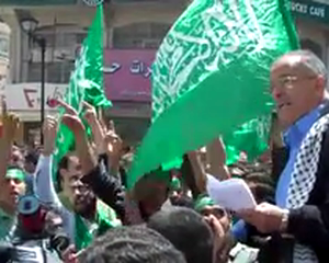 Hamas activists celebrate unity in Ramallah