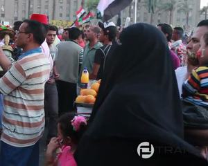 Protests against the military declaration in Tahrir