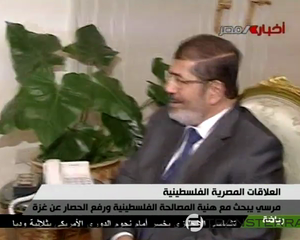 President Morsi Meets with Hamas PM Haniyeh