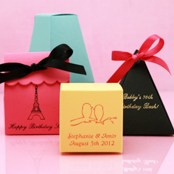 Colored Wedding Favor Boxes
