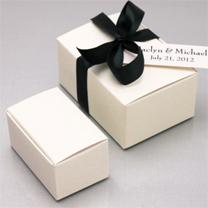 Ivory Wedding Favor Boxes
