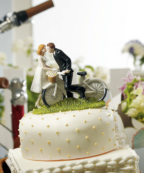 Bicycle Bride and Groom Cake Topper