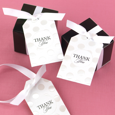 Pearl Dotted thank you tags