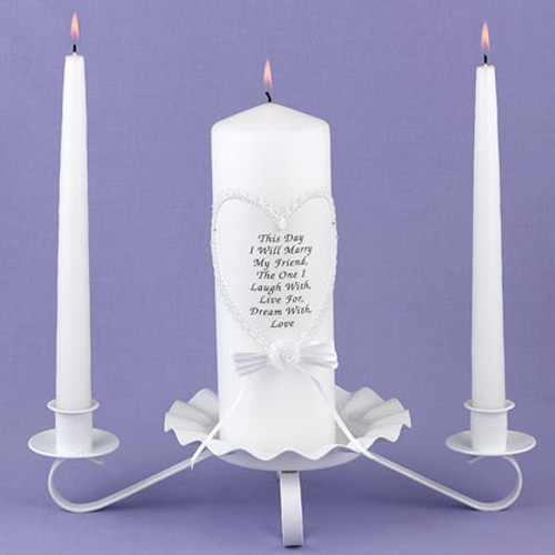 """""""This Day I Will Marry My Friend"""" Unity Candle"""