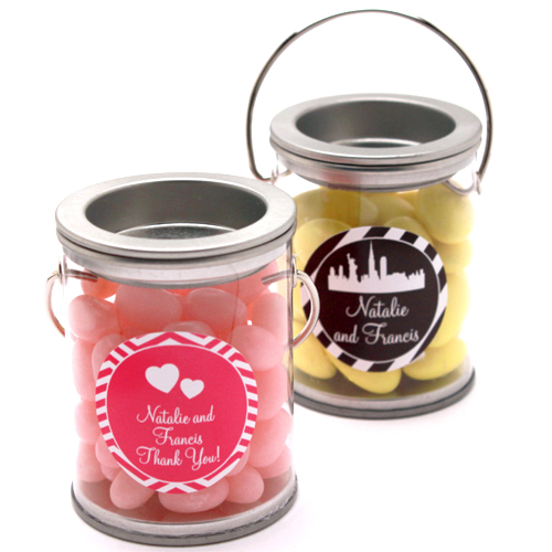 Personalized Mini Paint Can Favor