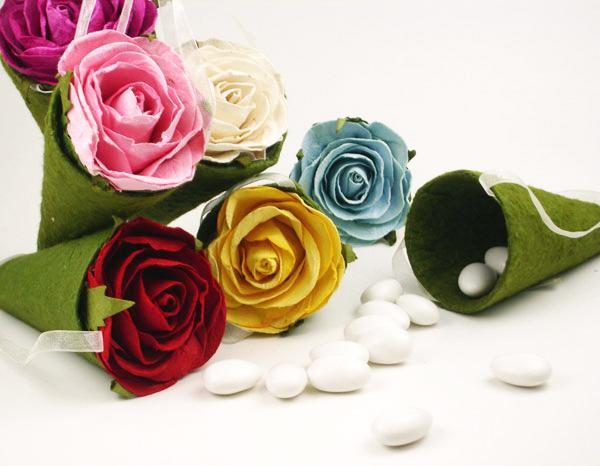 Garden Rose Hanging Cone Boxes