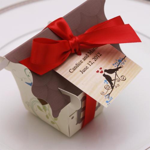 Sweet Bird House Favor Box