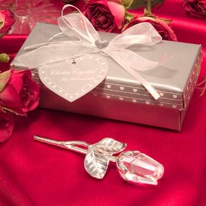 Long Stem Rose Wedding Favors
