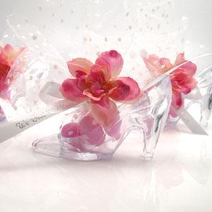 Crystal Clear Shoe Favor - 12 pcs