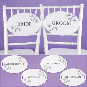Wedding Party Chair Signs
