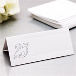 25th Wedding Anniversary Place Cards - 50 pcs