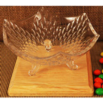 Autumn Beauty Leaf Shaped Crystal Candy Dish