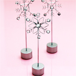 Bejeweled Snowflake Place Card Holder