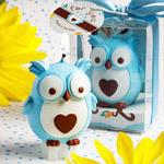 Blue Owl Candle Favor