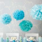 Blue Sky Pom-Pom Decorations Kit - 8 pcs