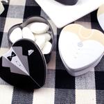 Bride or Groom Heart Shaped Favor Tins