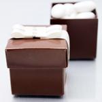 Brown Square Favor Boxes - 10 pcs