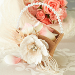 Burlap & Lace Flower Girl Basket
