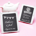 Chalkboard Personalized Tea Bag Favor