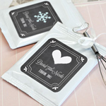 Chalkboard Wedding Personalized Hot Cocoa + Optional Heart Whisk
