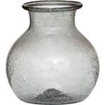 Charcoal Grey Recycled Glass Vase (honey pot design)