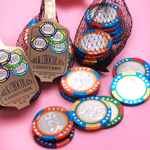 Chocolate Casino Chips in a Bag
