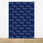 Classic Monogram Personalized Photo Booth Backdrop