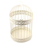 Ivory Classic Round Decorative Birdcage Card Holder