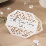 David Tutera� Illusion Die Cut Lace Paper Place Cards - White - 25 pieces