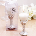Double Heart Champagne Flute Candle Holders