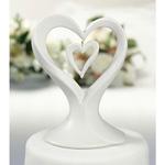 Double Heart Porcelain Caketop
