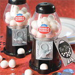 Dubble Bubble Gumball Machine Favors - Black And White