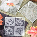 Fall Themed Frosted Glass Coaster