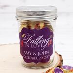 Falling in Love Personalized Mini Mason Jars