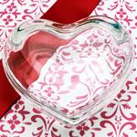 Glass Heart Trinket Box