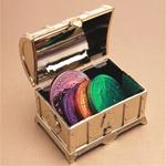 Gold Treasure Chest Favor Box - 12 pcs