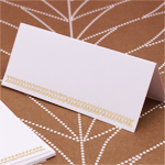 Gold Leaf Blank Place Cards - 50 pcs