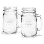 Groomsman's Engraved Mason Jar Drinking Glass - 6 pcs