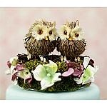 """""""I'll Look Out For You"""" Owl Wedding Cake Topper"""