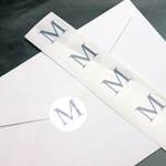 Single Initial Personalized Clear Labels - 20 pcs