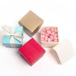 Italian Linen Square Favor Box - 10 pcs