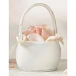 Ivory Round Flower Basket