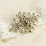 Jeweled Ivory Garter