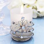 Jeweled Snowflake Votive Candle Holders