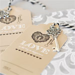 """""""Key to Happiness"""" Escort Cards"""