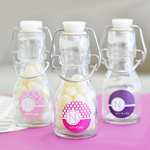 MOD Pattern Monogram Mini Glass Bottles